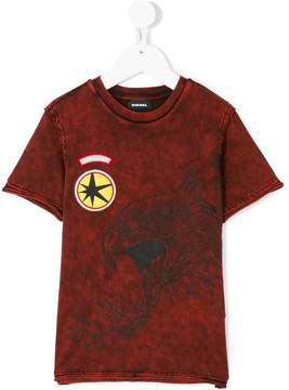 Diesel stone washed eagle T-shirt