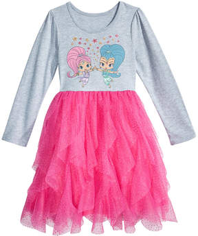 Nickelodeon Nickelodeon's Shimmer and Shine Cascading-Ruffle Dress, Little Girls (4-6X)