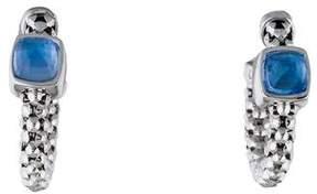 Chimento 18K Topaz Hoop Stretch Earrings