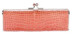 Judith Leiber Alligator Kiss-Lock Clutch