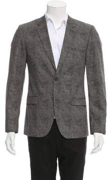 Calvin Klein Collection Abstract Print Two-Button Blazer