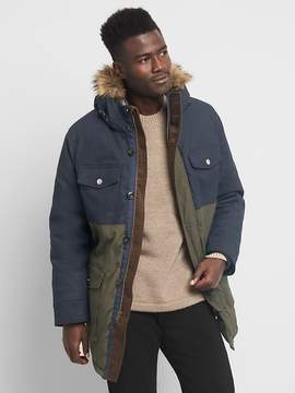 Gap Colorblock faux-fur parka