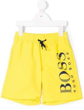 Trunks Boss Kids printed logo swim shorts