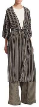 Halston Long Silk Kimono Jacket