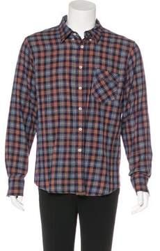 Billy Reid Woven Plaid Shirt