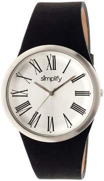 Simplify Mens Black Strap Watch-Sim2001