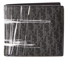 Christian Dior Darklight Scribble Canvas Bi Fold Wallet.