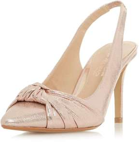 Head Over Heels *Head Over Heels by Dune Rose Gold 'Charlise' Court Shoes
