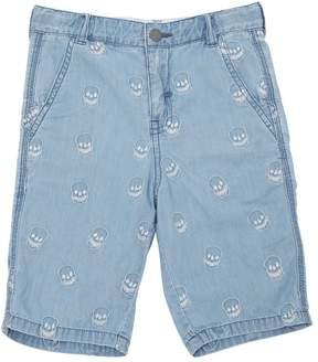 Stella McCartney Skulls Organic Cotton Chambray Shorts