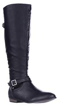 Material Girl Mg35 Capri Wide Calf Riding Boots, Black.