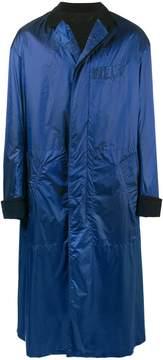 Haider Ackermann Blue Oversized Cotton Nylon Coat