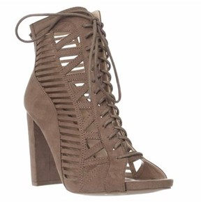 XOXO Bedelia Lace Up Caged Sandals, Taupe.