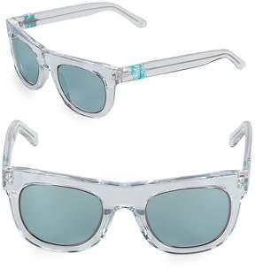 Westward Leaning Women's Pharoah Clear 49MM Square Sunglasses