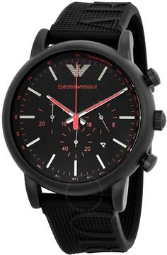 Giorgio Armani Luigi Chronograph Black Dial Men's Watch