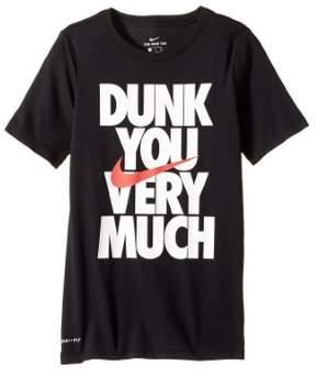Nike Big Boys' (8-20) Dri-Fit Dunk You Very Much Swoosh T-Shirt-Black-XL