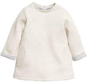 H&M Textured-weave Dress - Gray