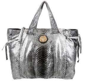 Gucci Python Large Hysteria Tote - SILVER - STYLE