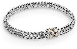 John Hardy Dot 18K Yellow Gold & Sterling Silver Oval Chain Bracelet