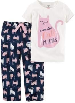 Carter's Girls 4-14 I am the Cats Pajamas Top & Bottoms Pajama Set