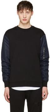 Diesel Black Gold Black Nylon Sleeve Pullover