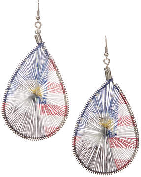 Carole Stars & Stripes Eagle Wrapped Teardrop Earrings