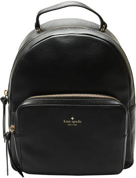 Kate Spade Black Mini Nicole Larchmont Avenue Leather Backpack