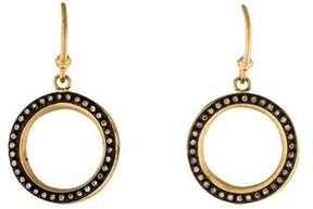 Armenta Open Circle Diamond Drop Earrings
