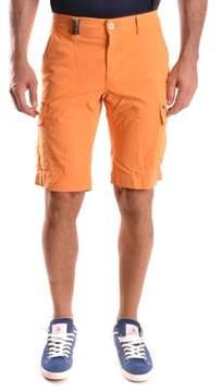 Mason Men's Orange Cotton Shorts.