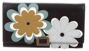 Roger Vivier Floral Leather Wallet w/ Tags