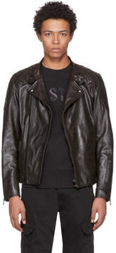 Belstaff Black Leather Rebel BXS Jacket