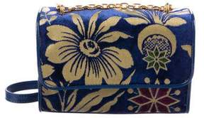Tory Burch Fleming Floral Convertible Small Bag - BLUE - STYLE