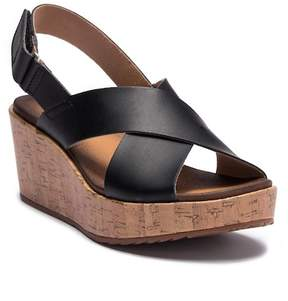 Clarks Stasha Hale Leather Wedge Sandal