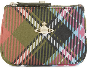 Vivienne Westwood Check leather wallet