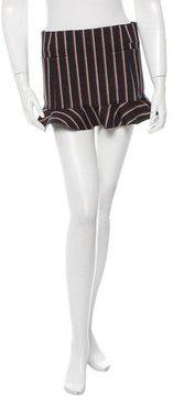 Toga Striped Ruffled Mini Skirt