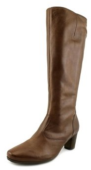 Gabor 56.599 Round Toe Leather Knee High Boot.