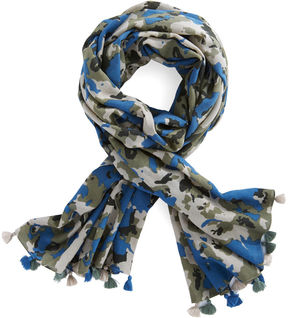 Vineyard Vines Camo Print Border Scarf