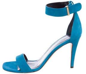 Celine Suede Ankle-Strap Sandals