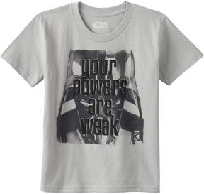 Star Wars Toddler Boy Darth Vader Your Powers Are Weak Graphic Tee