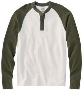 L.L. Bean L.L.Bean Two-Layer River Driver's Shirt, Baseball Henley Colorblock