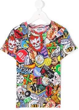 Moschino Kids pop art T-shirt
