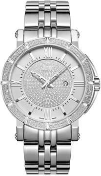 JBW Vault Silver-tone Diamond Men's Watch