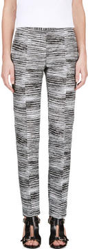 Calvin Klein Collection Black and White Jacquard Brush Slice Tamar Trousers
