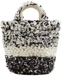 MANGO Sabana Textured Cotton Tote