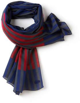 Lacoste Women's Colored Stripe Twill Scarf