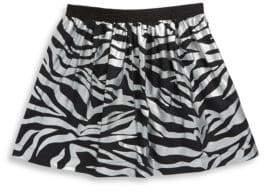 Kenzo Toddler's, Little Girl's& Girl's Zebra Cotton Skirt
