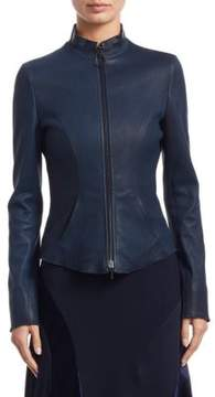 Akris Punto Fitted Leather Jacket
