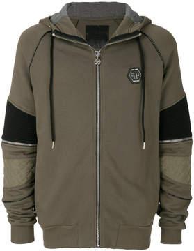 Philipp Plein panelled zip hoodie
