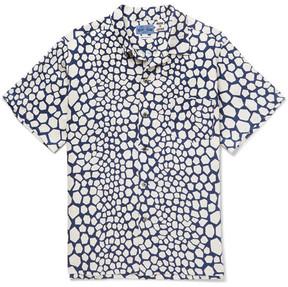 Blue Blue Japan Bassen Printed Linen Shirt