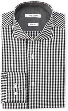 Isaac Mizrahi Black Gingham Check Slim Fit Dress Shirt