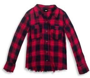 Hudson Girl's Erin Plaid Collared Shirt